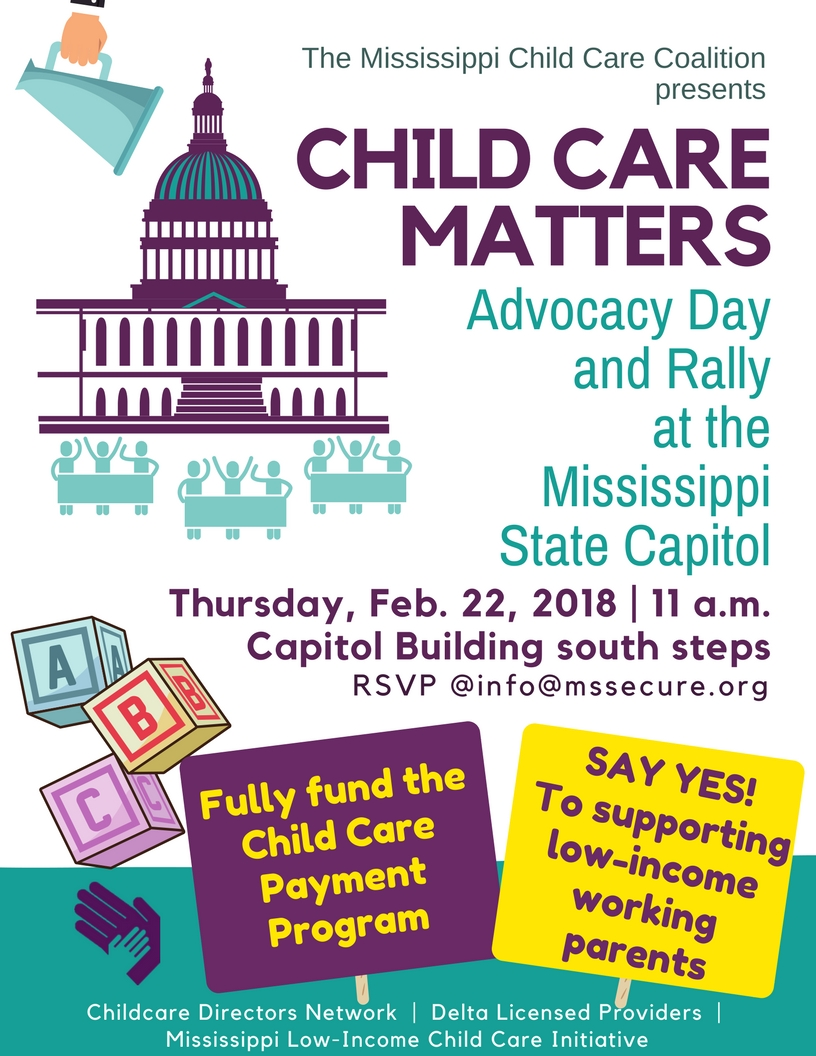 Child Care Matters Rally flyer